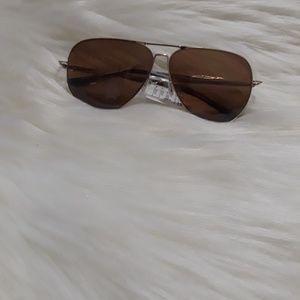 Joe's Jeans Gold Aviator Sunglasses